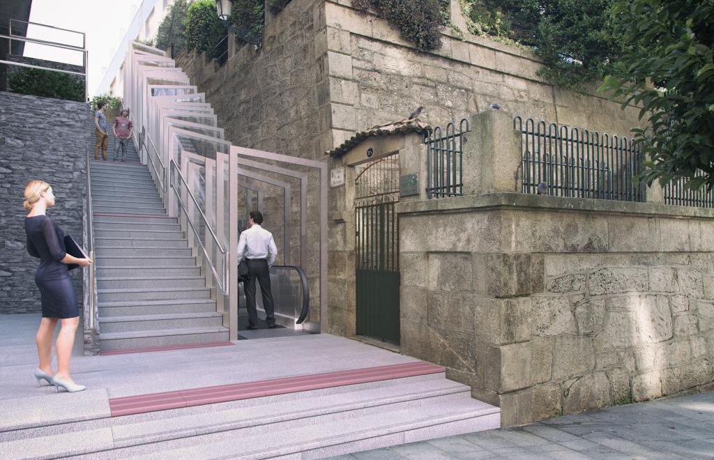 Escaleras mecánicas previstas en la calle Talude