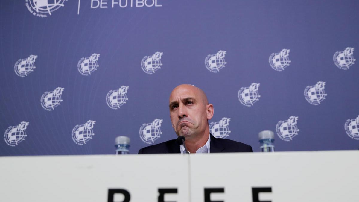 El presidente de la Federación Española de Fútbol, Luis Rubiales.