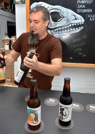 07/11/2018 VECINDARIO, SANTA LUCÍA DE TIRAJANA. Cerveza artesanal sin gluten, entre otras variedades, fabricada por la empresa Galotia Brewing. SANTI BLANCO  | 07/11/2018 | Fotógrafo: Santi Blanco