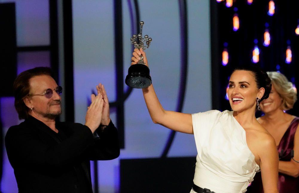 Penélope Cruz recibe el Premio Donostia