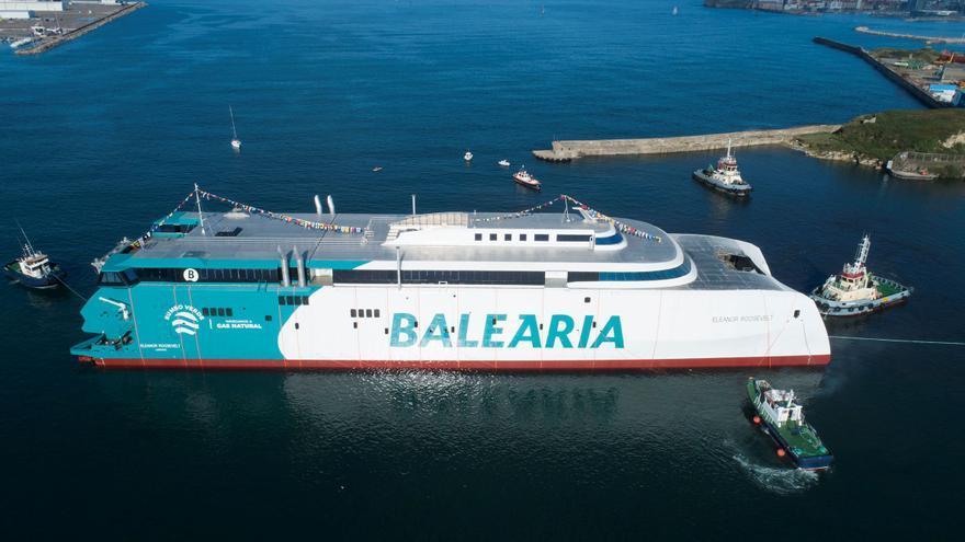 Baleària presenta el primer 'fast ferry' mundial que navegará con motores a gas natural