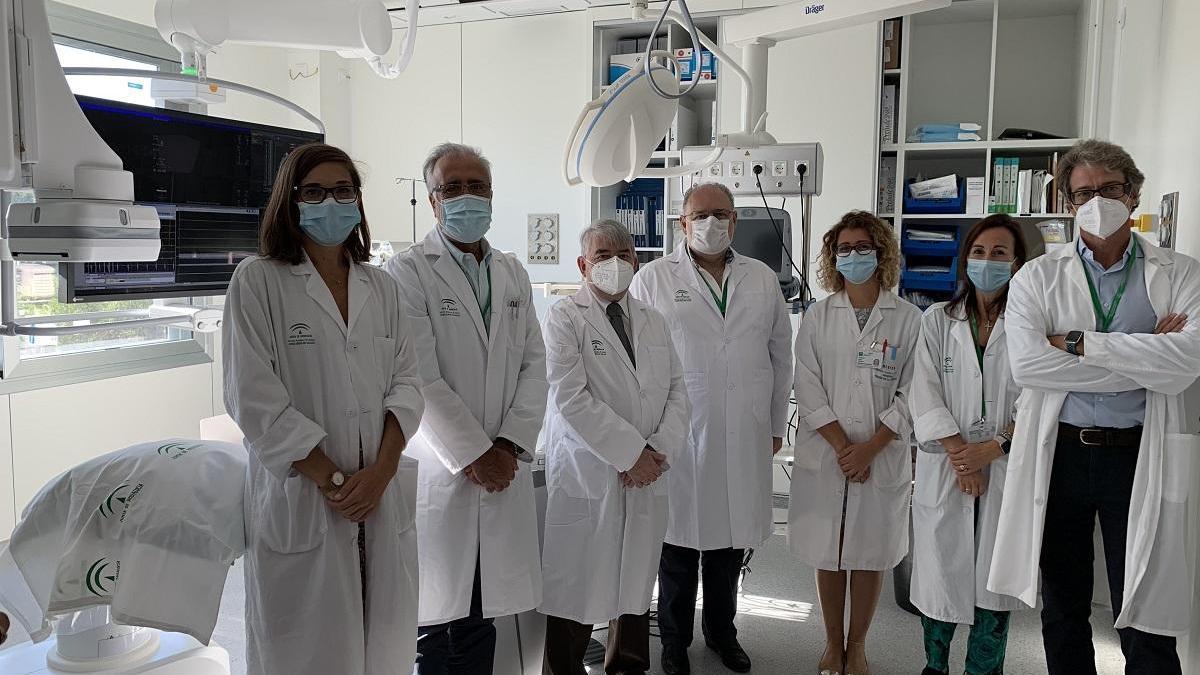 Profesionales de la Unidad de Arritmias del Hospital Clínico.