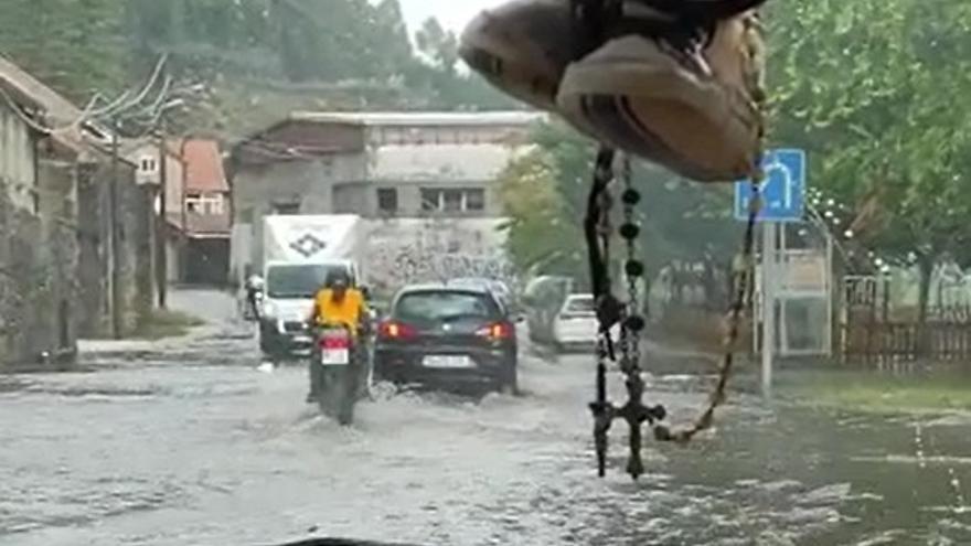 La tormenta se ceba en Domaio