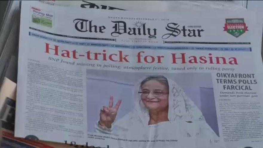El partido de la primera ministra arrasa en Bangladesh
