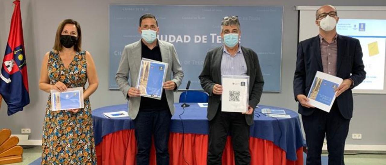 De izq a dcha, Lidia Mejías; Héctor Suárez; Juan Díaz y Javier Hernández, en la presentación del plan estratégico de Telde. | | LP/DLP