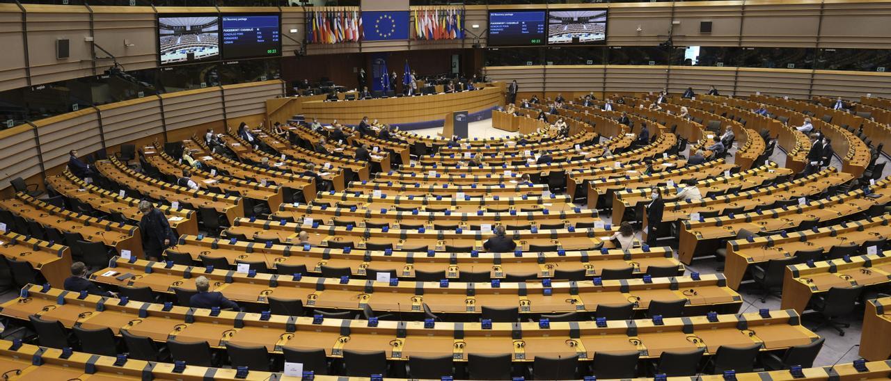 Vista general del Parlamento Europeo.