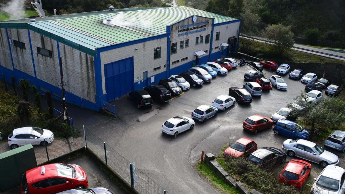 Una imagen de archivo de la planta de Lago Paganini, en A Portela