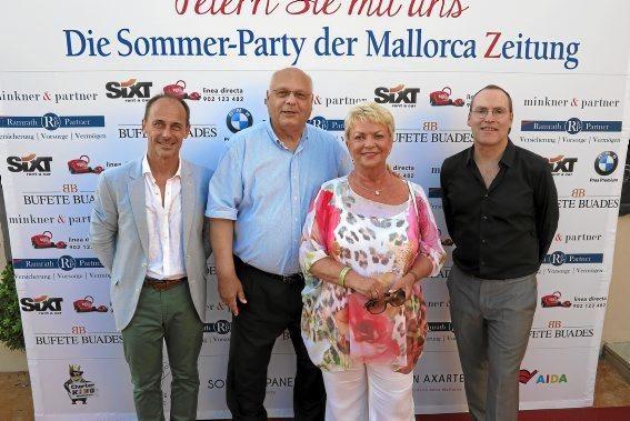 Sebastián Oliver, Lutz Minker, Edith Minkner, Ciro Krauthausen