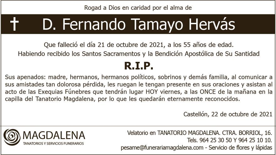 D. Fernando Tamayo Hervás