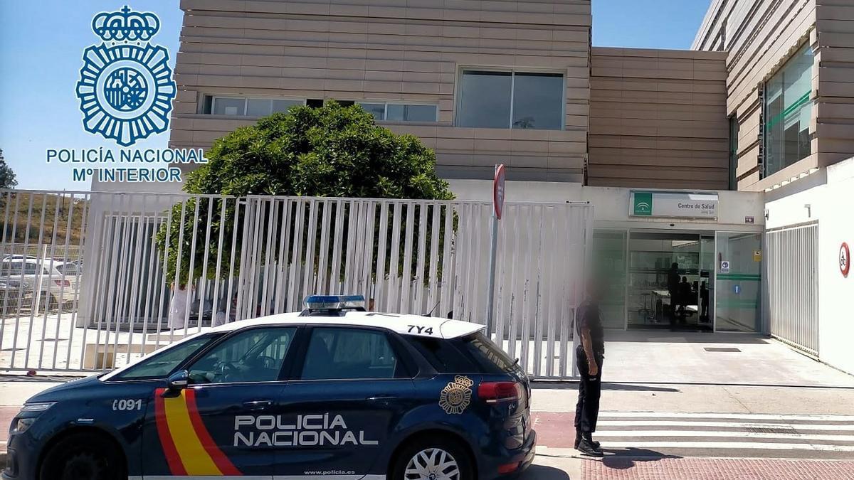 Vehículo de la Policía Nacional en la Comisaría de Jerez