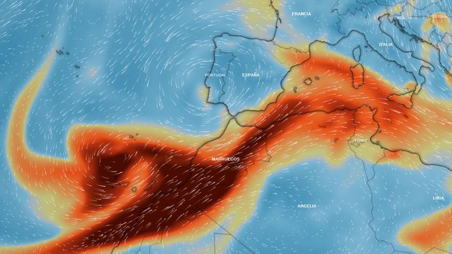 La nube de azufre llegará de lleno mañana a València