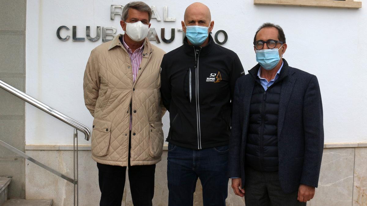 Jorge Forteza, Agustín Zulueta y Emerico Fuster, este jueves en el RCN Palma