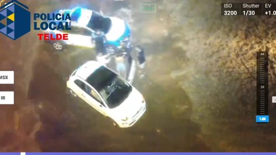 Un dron 'caza' a una conductora que pretendía evitar un control en Telde