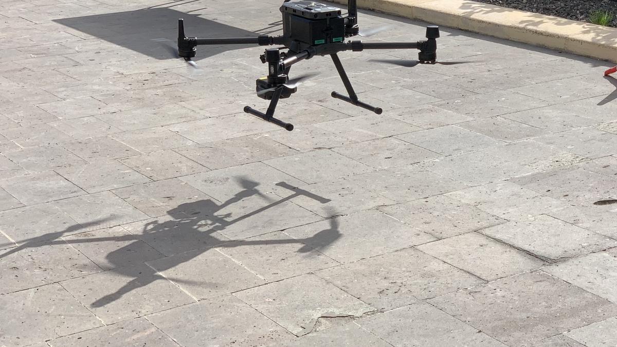 Uno de los drones utilizados en el dispositivo de búsqueda de Juana Ramos en Gran Canaria.