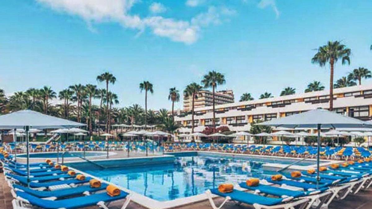 Una de las piscinas del hotel Las Dalias en Costa Adeje.