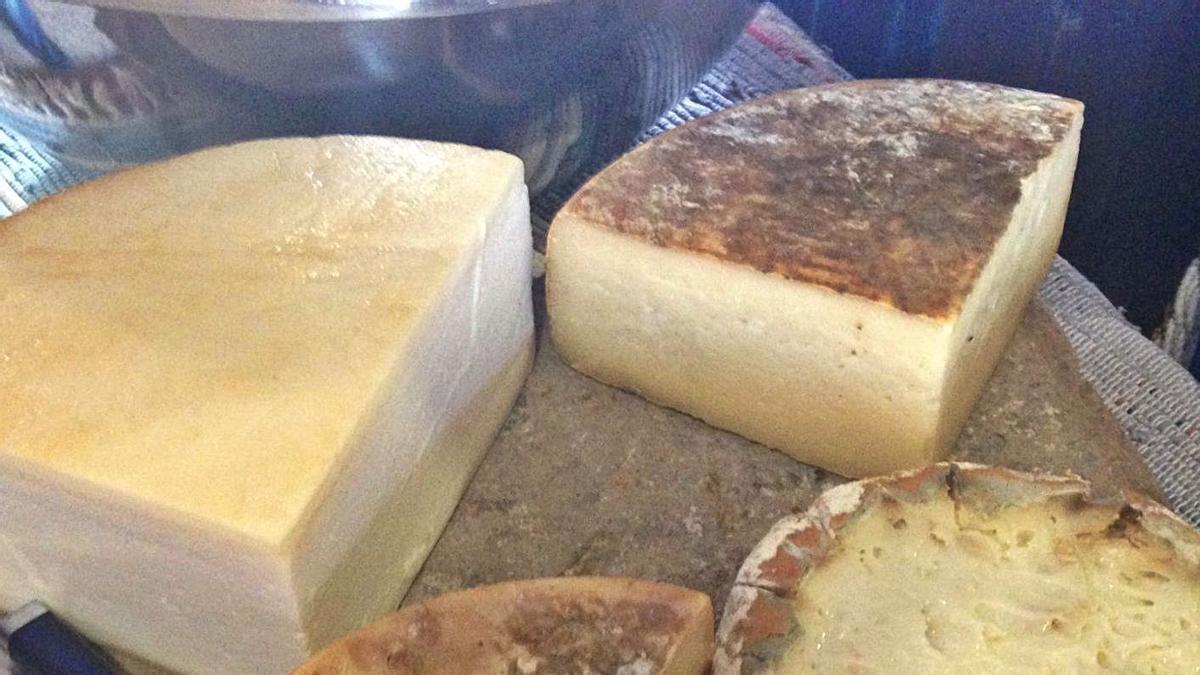 Selección de quesos de Canarias.