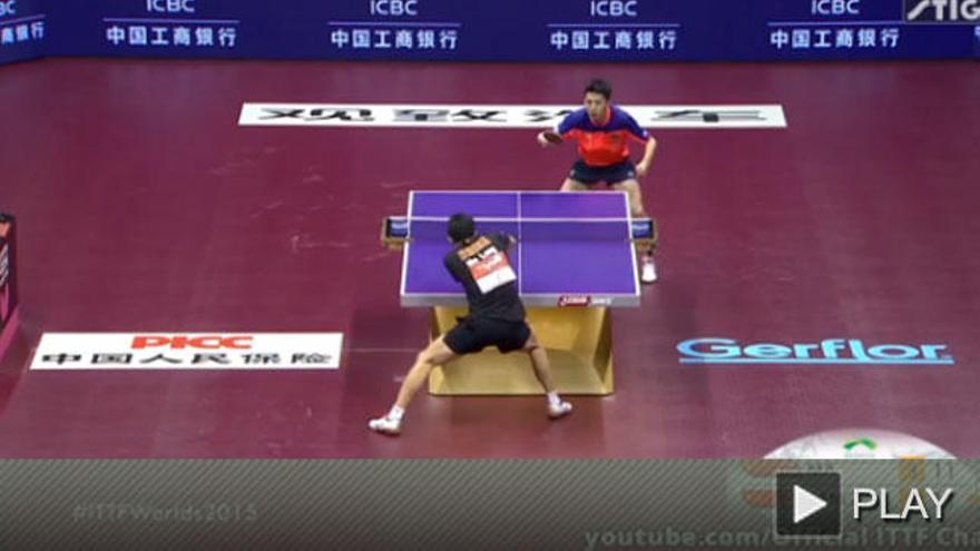 Un punto de ping-pong de infarto