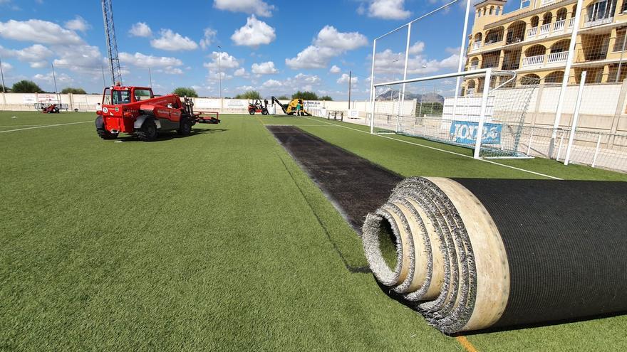Algorfa invierte 244.000 euros en mejorar las instalaciones del polideportivo municipal