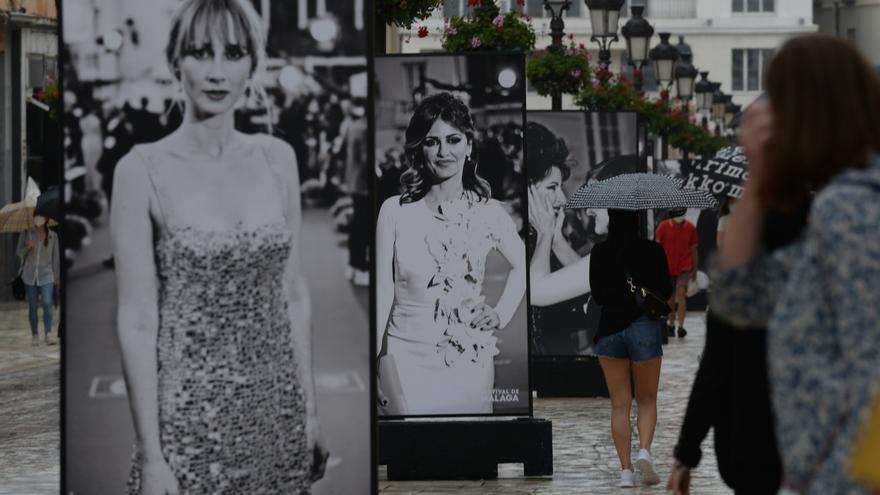 Exposición del Festival de Cine en la calle Larios