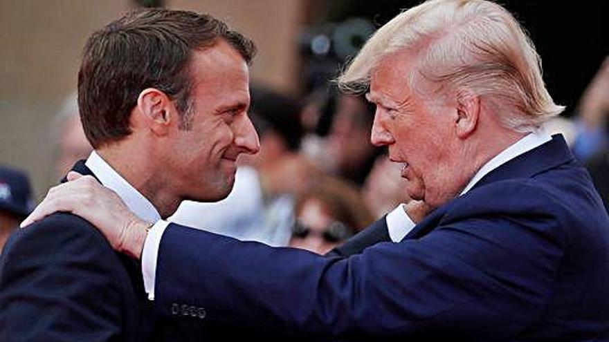 Macron, a Trump: «Els EUA són més grans quan lluiten per la llibertat dels altres»