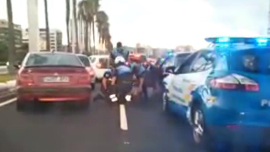 Detenido en la Avenida Marítima tras una persecución policial