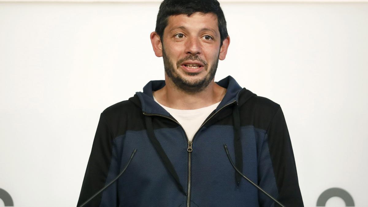 El diputat de la CUP Xavier Pellicer