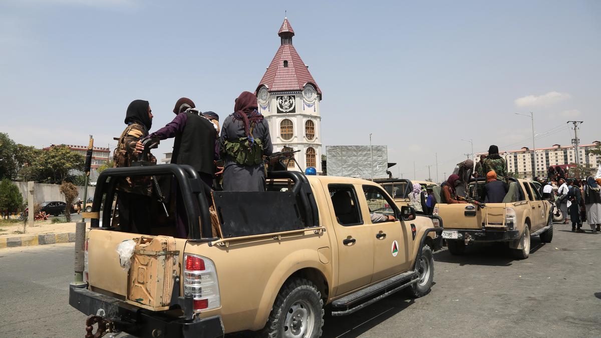 Milicianos talibán en Kabul.