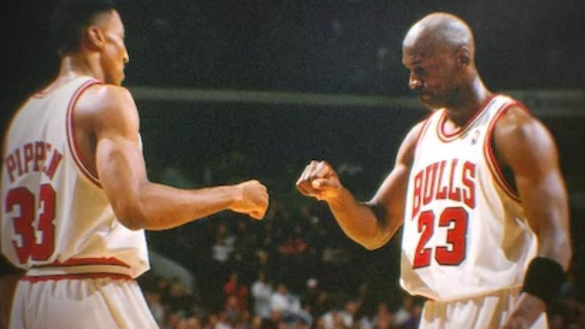 Michael Jordan y Scottie Pippen, con los Chicago Bulls.