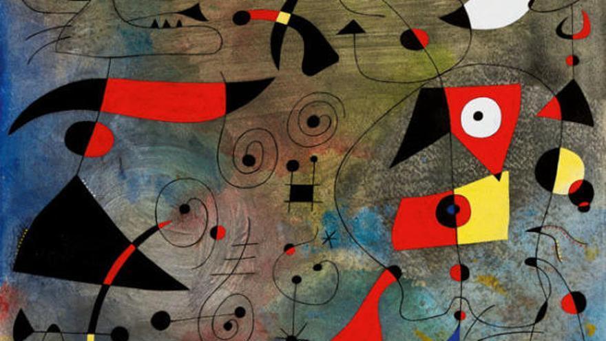 Vendida por 27 millones de euros la obra 'Femme et oiseaux', de Joan Miró