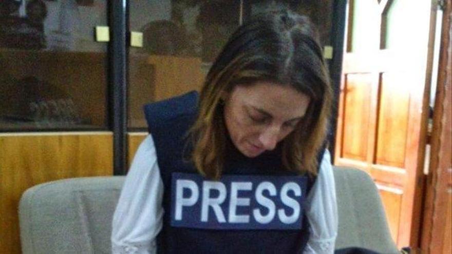 Ana Alba recoge en la distancia la felicitación por el Premio de Periodismo Julio Anguita Parrado