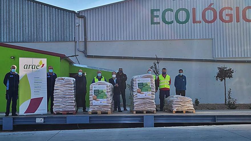 Garbanzos donados al Banco de Alimentos de Zamora