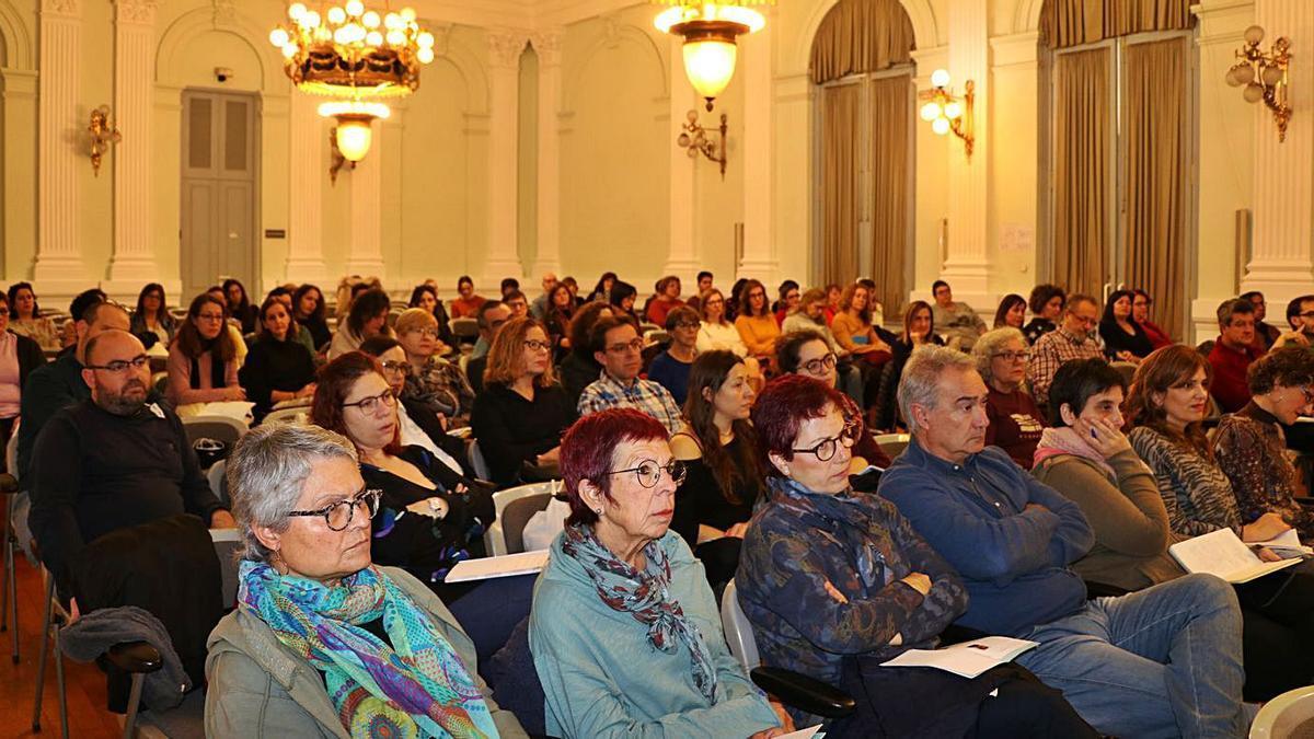 Públic de la 5a Trobada de Professorat de Valencià, celebrada en 2019 a Xàtiva.