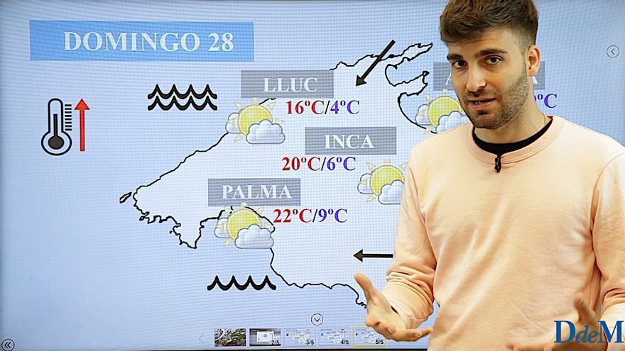 El tiempo del fin de semana en Mallorca: Temperaturas en ascenso y viento fuerte de Gregal