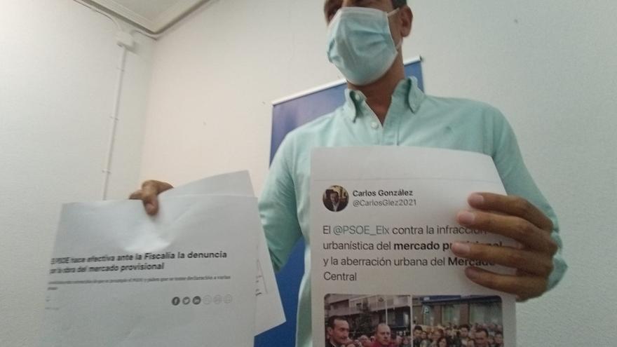PSOE y PP, intercambio de posturas sobre el mercado provisional de Elche
