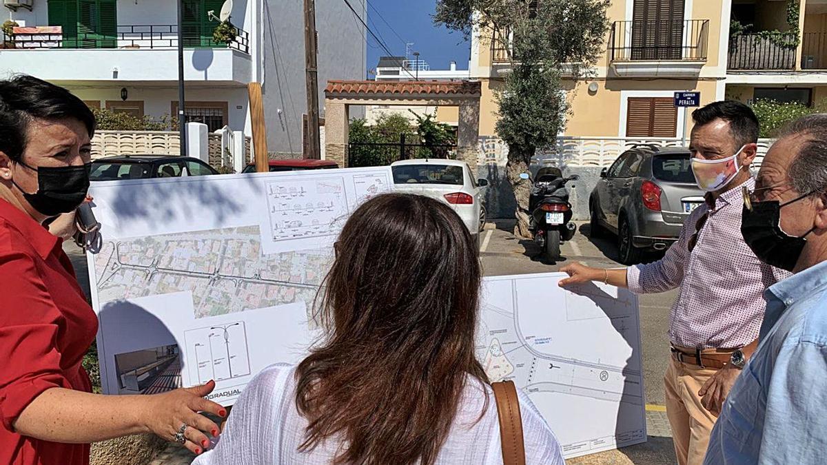 Presentación de la reforma de la calle des Fornàs.
