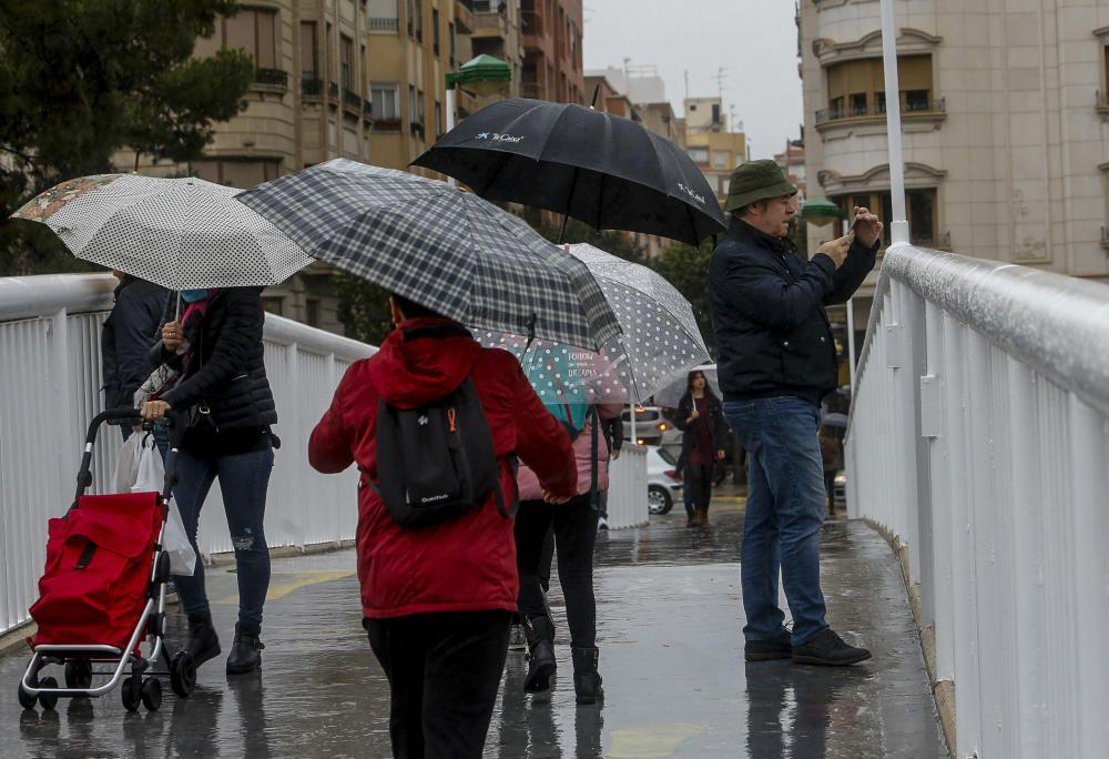 Racha de lluvias en Elche durante el fin de semana