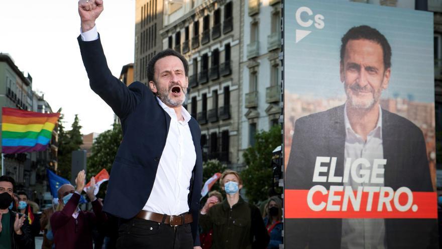 """""""Elige centro"""" se convierte en el lema de Cs en el inicio de la campaña electoral en Madrid"""