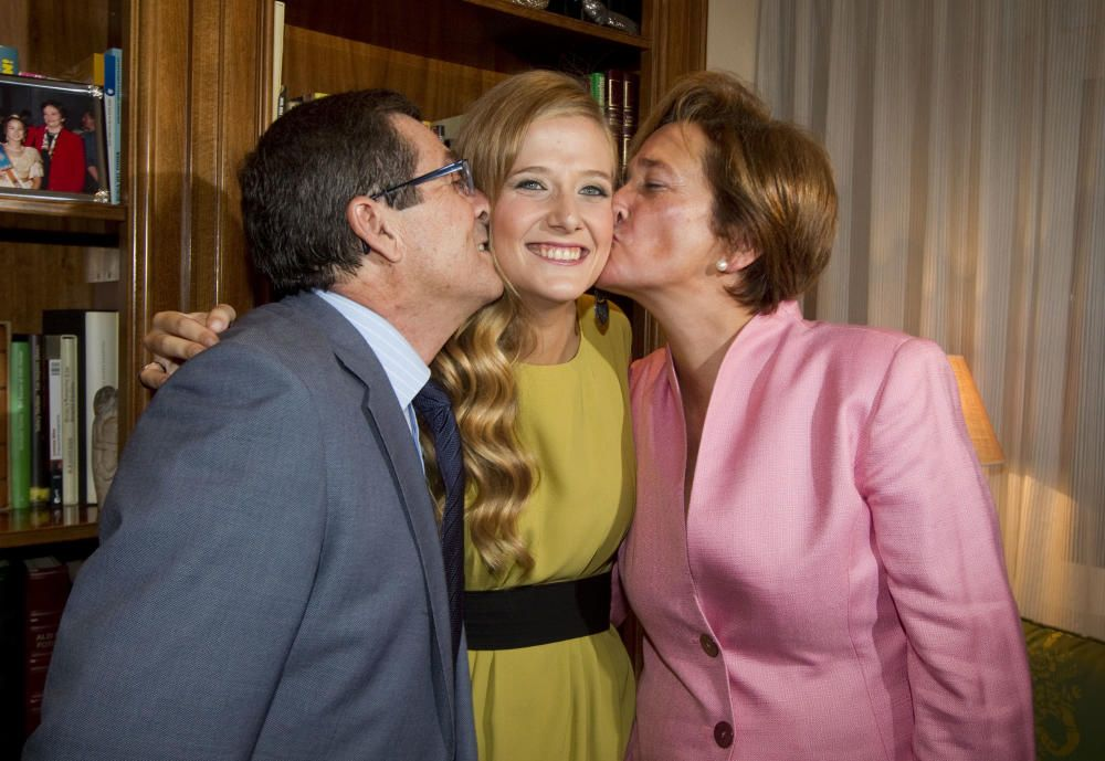 Begoña, con sus padres