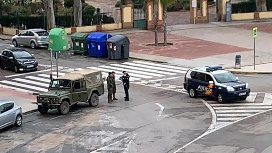 El Ejército patrulla a pie las calles de Sagunt