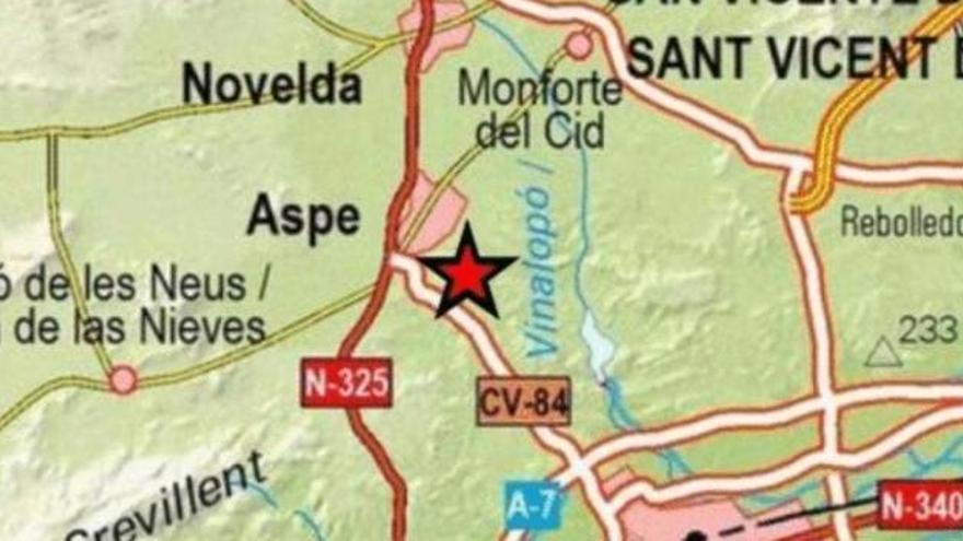 Terremoto de magnitud 1,6 con epicentro en Aspe