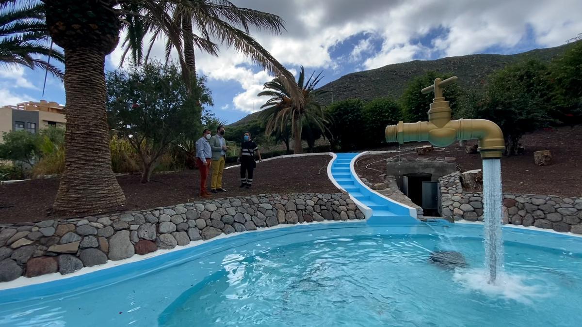 Una de las fuentes rehabilitadas en San Sebastián de La Gomera.