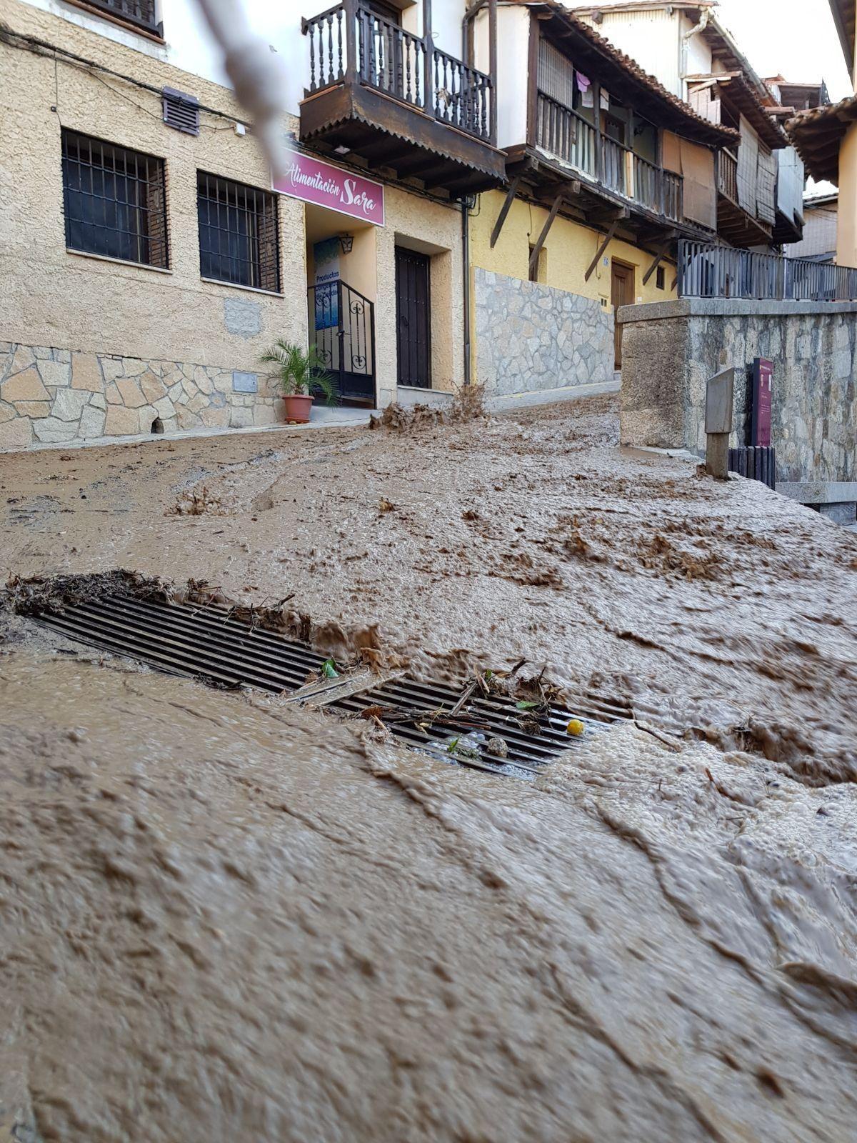 La inundación de Valverde de la Vera en imágenes