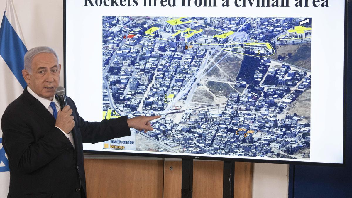 El primer ministro de Israel en funciones, Benjamin Netanyahu.