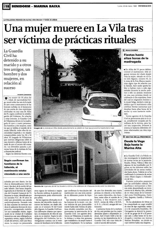 El norte de la provincia de Alicante concentra el mayor número de sectas de la Comunidad