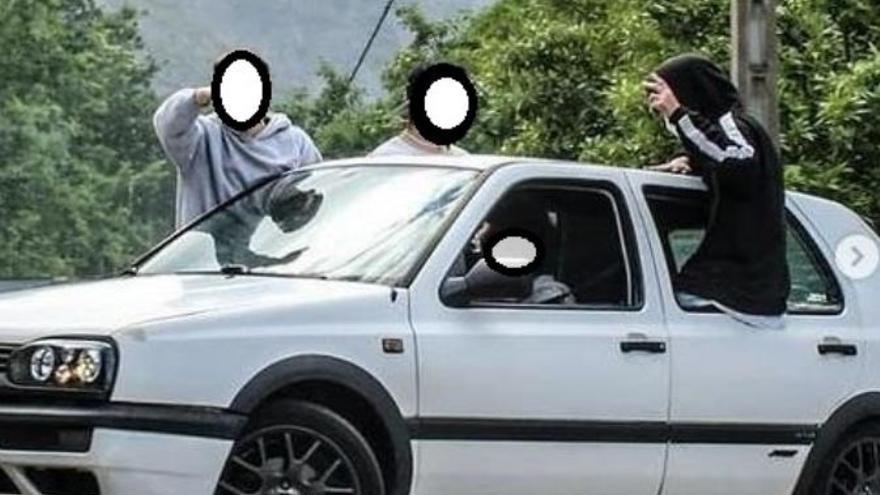 """Identificados 11 conductores """"temerarios"""" tras difundir en redes una carrera ilegal en los cañones del Sil"""