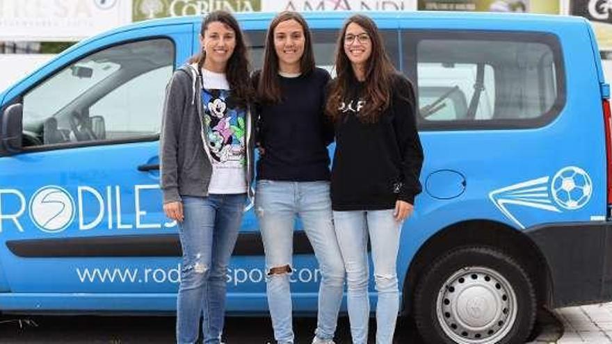 Candy, Isa y Saray, del Sporting, refuerzos del Rodiles
