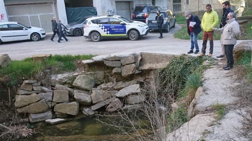 Solsona repararà un tram d'escullera del Riu Negre afectat pel Glòria