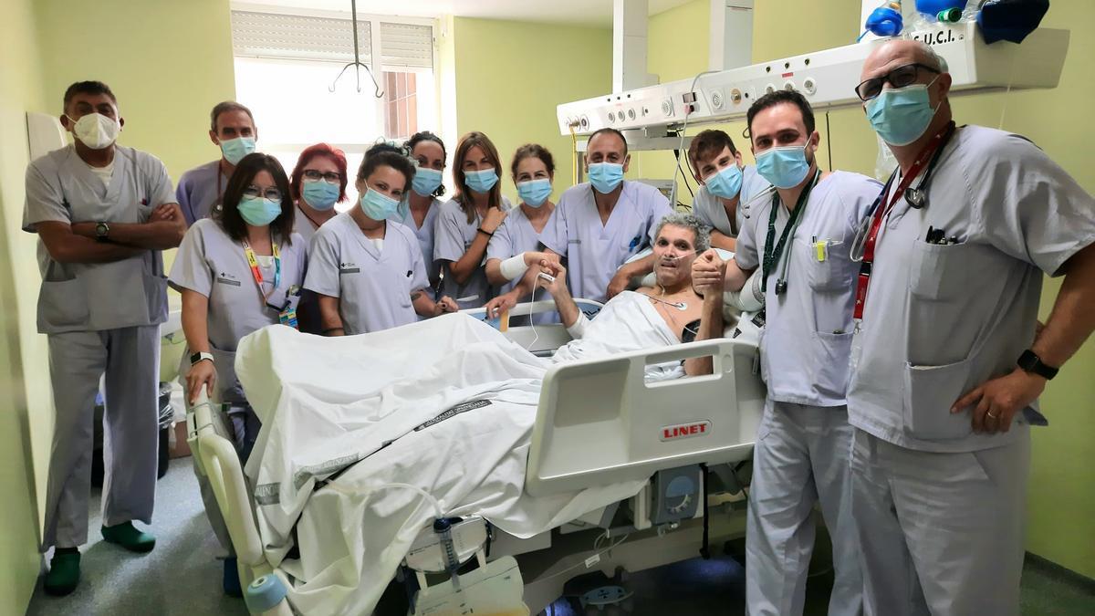 Dahdah Belkacem, último paciente con covid en la UCI