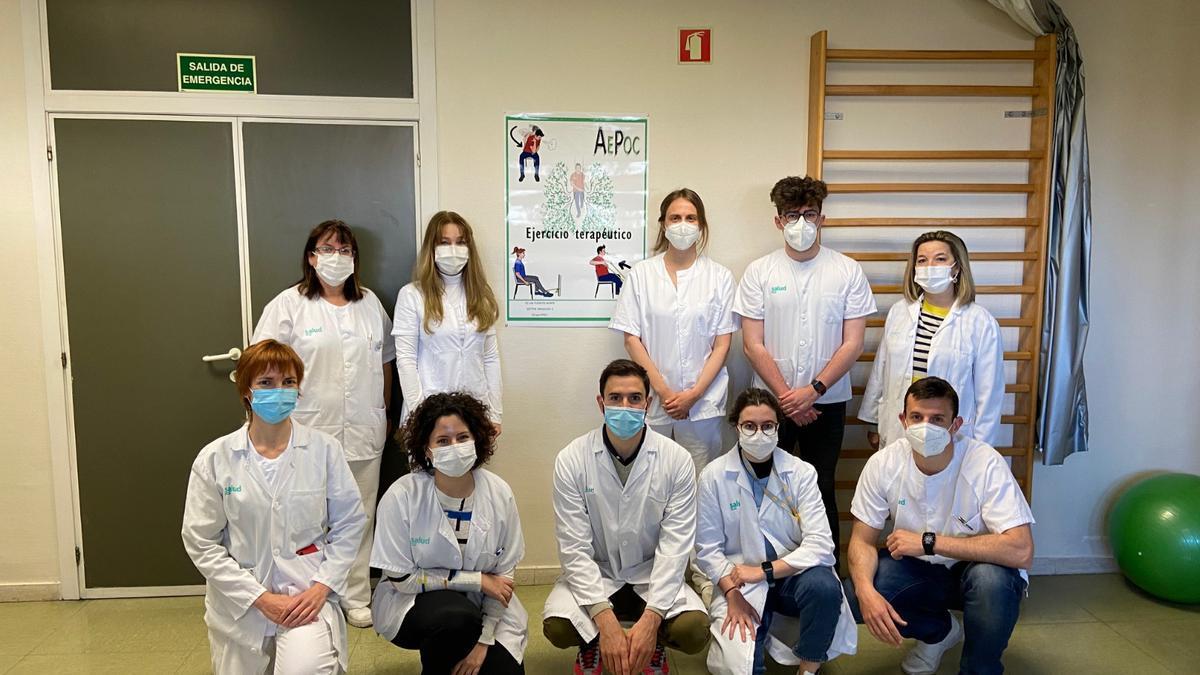 El grupo AEPOC del centro de salud Las Fuentes Norte.