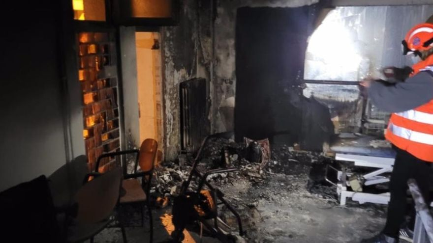 Un incendio en un geriátrico de Manresa deja siete heridos leves
